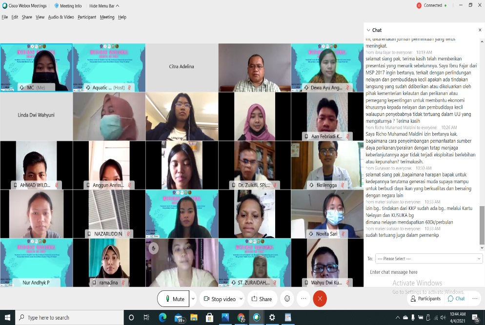 WEBINAR NASIONAL AQUATIC ON EIGHT 2021