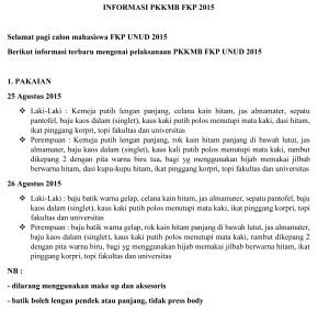 INFORMASI PKKMB FKP 2015-1