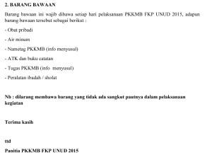INFORMASI PKKMB FKP 2015-2